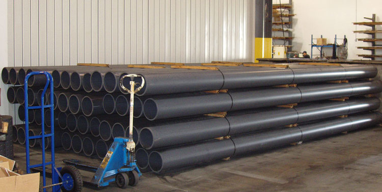 10 Sch 80 PVC Plain End Pipe