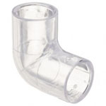 Clear PVC Elbow Fitting