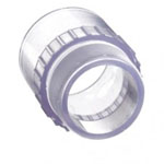 Clear PVC Adaptor Fitting