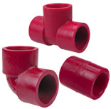 Red PVDF KYNAR Fittings