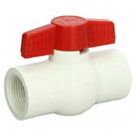 White Threaded Compact Ball Valves