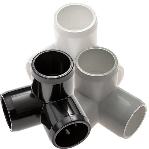 3 Way Elbow PVC Furniture Fittings
