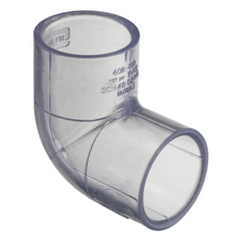 Clear PVC Elbow Fittings
