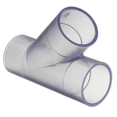 Clear PVC Wye Fittings