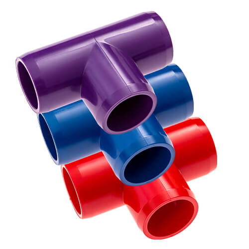 Tee PVC Furniture Fittings