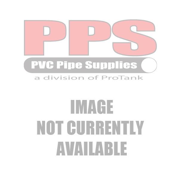 "4"" PVC Industrial Ball Valve Gray Threaded, VITON Seals - 22063VIT"
