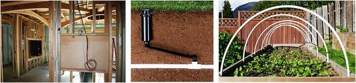 PVC pipe usage